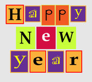 Text Happy New Year Royalty Free Stock Photos