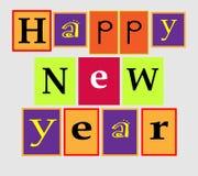 Text Happy New Year. Cartoon text Happy New Year Royalty Free Stock Photos