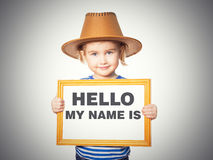 Text HELLO MY NAME IS. Royalty Free Stock Images