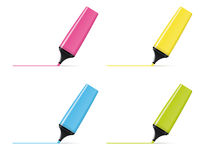 Text Highlighter Vector Illustration Set Stock Photo