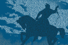 Text horse rider stock photography