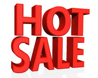 Text HOT SALE 3D isolated on white background Royalty Free Stock Images