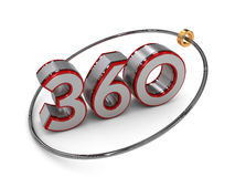 Text 360 i 3D Arkivfoton