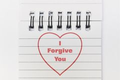 Text I Forgive You royalty free stock photos