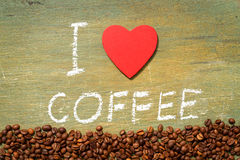 Text i love coffee Royalty Free Stock Photo