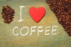Text i love coffee Royalty Free Stock Photography
