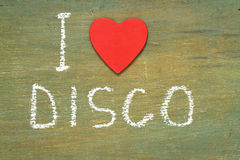 Text i love disco Royalty Free Stock Images