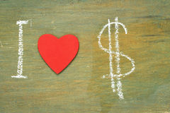 Text i love dollars Royalty Free Stock Image