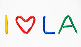 Text I LOVE LA Royalty Free Stock Images