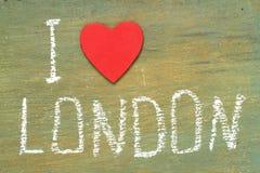 Text i love London Royalty Free Stock Photo