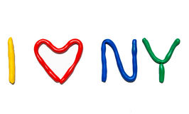 Text I LOVE NY royalty free stock image