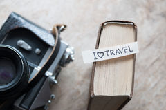 Text I Love Travel Stock Images