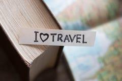 Text I Love Travel Stock Photos
