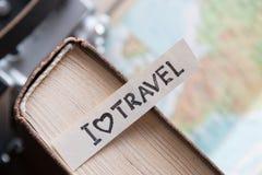 Text I Love Travel Royalty Free Stock Photos