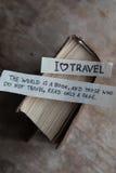 Text I Love Travel Stock Photo