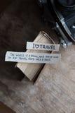 Text I Love Travel Royalty Free Stock Photography