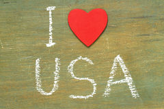 Text i love USA Stock Images