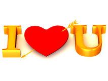 Text I LOVE YOU Stock Images