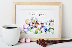 Text I love you in a picture Stock Photos