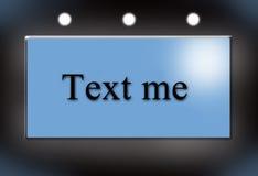 Text ich Stockfoto