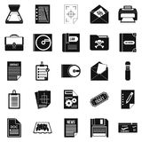 Text icons set, simple style. Text icons set. Simple set of 25 text vector icons for web isolated on white background Stock Photo