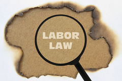 Text Labor Law Royalty Free Stock Images