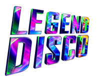 Text legend disco on a white background. 3d illustration. Text legend disco on a white background Stock Photos