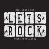 The text-lets rock Royalty Free Stock Photography