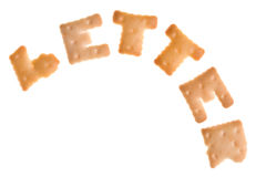 Text LETTER from cookies Royalty Free Stock Images