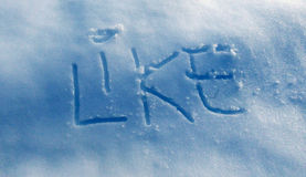 Text Like on a snow Stock Photography