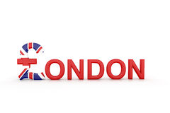 Text London with currency symbol Stock Photography