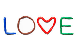 Text LOVE Royalty Free Stock Photography