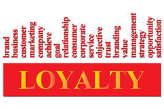 Loyalty to a company or brand royalty free illustration
