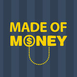 Text  made of money Royalty Free Stock Images