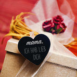 Text mama ich hab lieb dich, I love you mom in German Royalty Free Stock Image