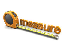 Text measure Royalty Free Stock Image