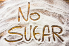 Text med inget socker Arkivbild