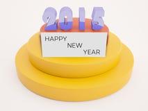 text 2015 med lyckligt nytt år på kort royaltyfri illustrationer