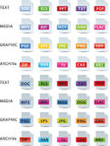Text media graphic and archive icon Royalty Free Stock Image