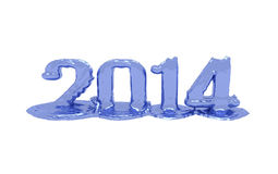 2014 text melt. Text of the year 2014 that melts on the white background Royalty Free Stock Photo