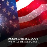 Text Memorial Day on American flag background. Memorial Day on American flag background. Vector illustartion vector illustration