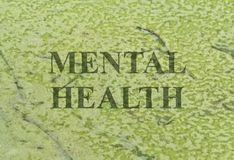 Text Mental Health Stock Image