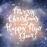 Text Merry Christmas Happy New Year Background Royalty Free Stock Images