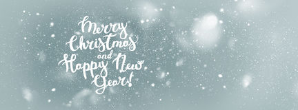 Text Merry Christmas Happy New Year Background Royalty Free Stock Photo