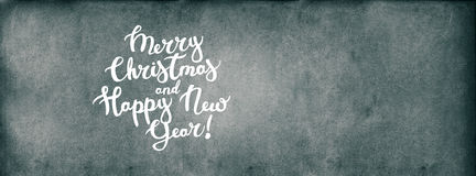 Text Merry Christmas Happy New Year Background Stock Photography