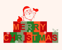 The text merry Christmas with Santa Claus Royalty Free Stock Photos