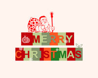 The text merry Christmas Stock Images