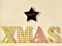 Text merry xmas, filtered Stock Photos