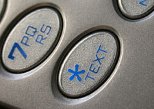 Text Message Button Cell Phone Royalty Free Stock Images