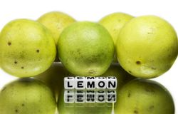 Text message on lemons Royalty Free Stock Images